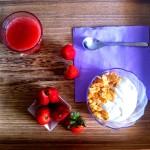 Viaggi con fragole, yogurt e cereali in tutta Italia.