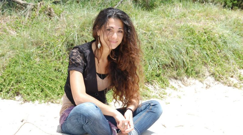 sabrina in Australia spiaggia St Kilda