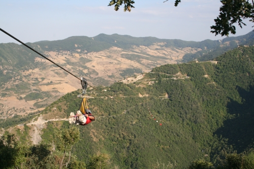 Flight of the angel, adventure in Basilicata