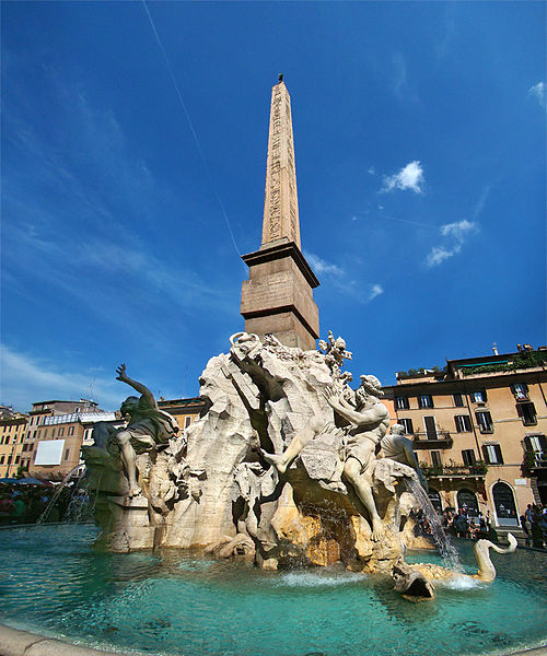 PIazza Navona_Rio de la plata e Nilo_Viaggio a Roma