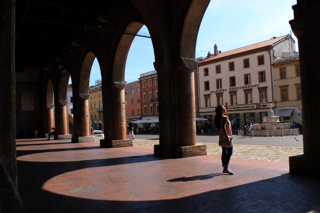 Rimini, centro storico. Piazza Cavour.