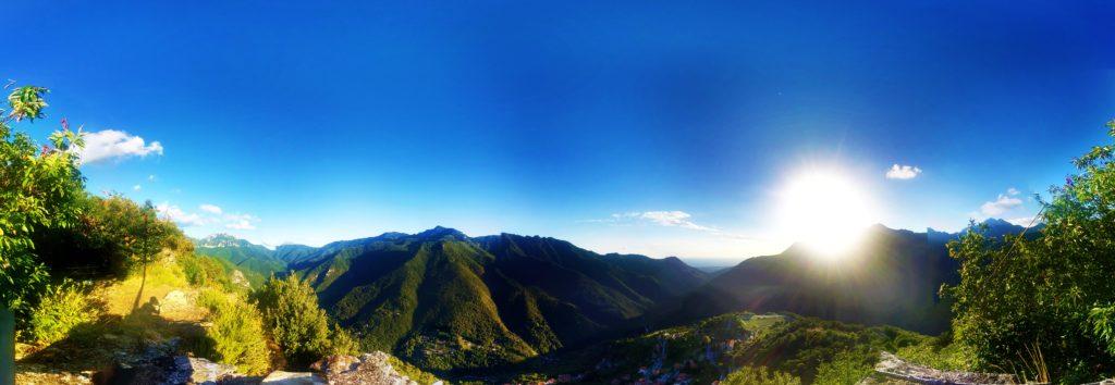 Alpi Apuane viste da Retignano
