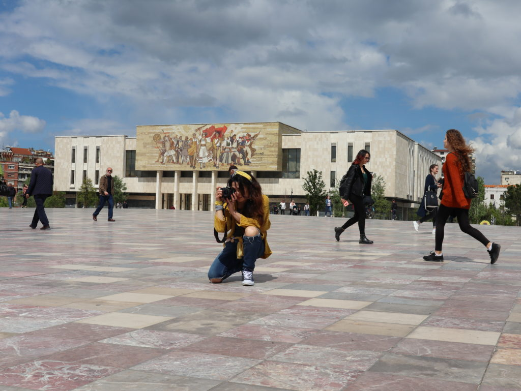 Tirana Piazza Skannenberg