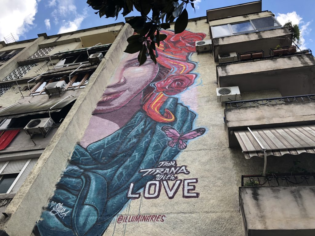 From Tirana with Love. Murales