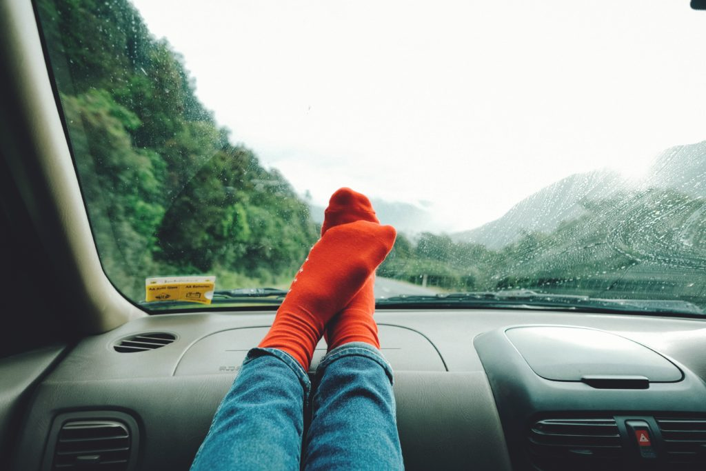 take off your shoes in car trips