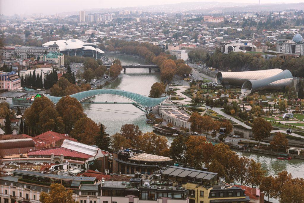 viaggio in georgia - vista tbilisi dall'alto
