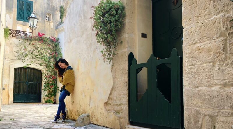 Sabrina in the old part of Lecce, south Italy - safe regions in italy