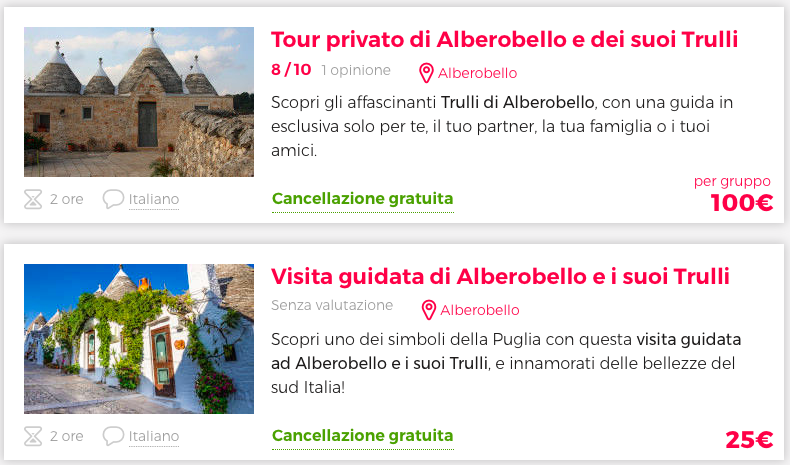 visita guidata e tour alberello