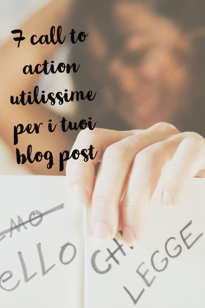 call to action o inviti all'azione per il blog - come e quali fare