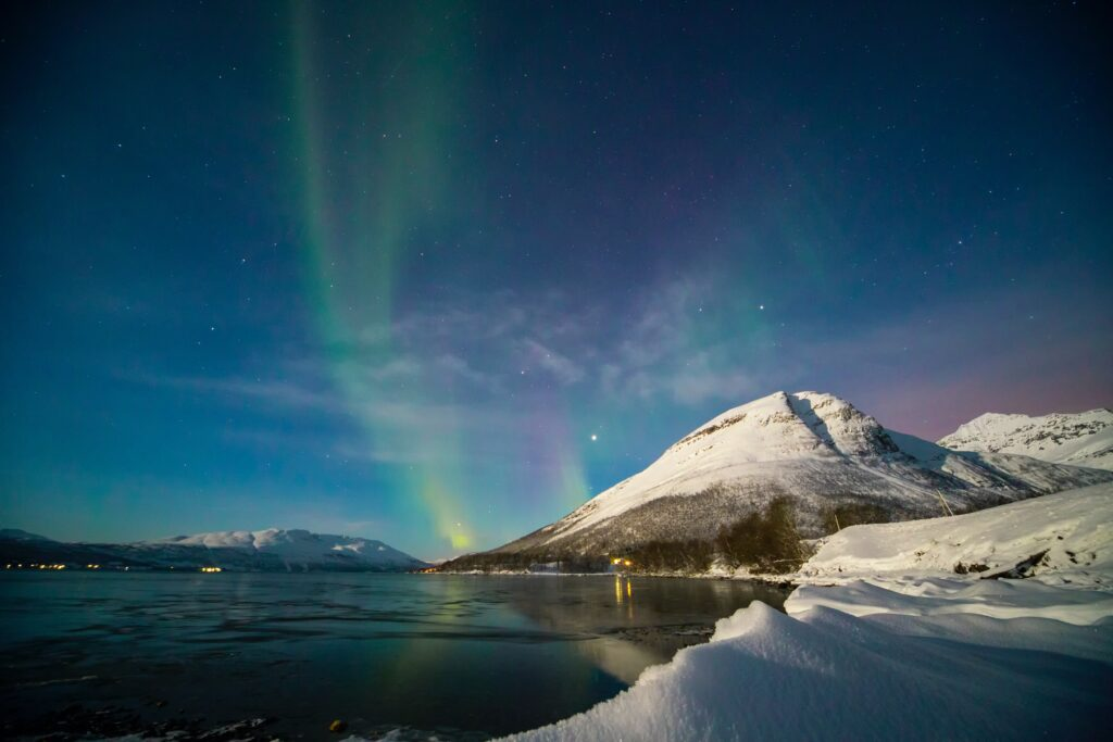 vedere l'autora boreale in norvegia