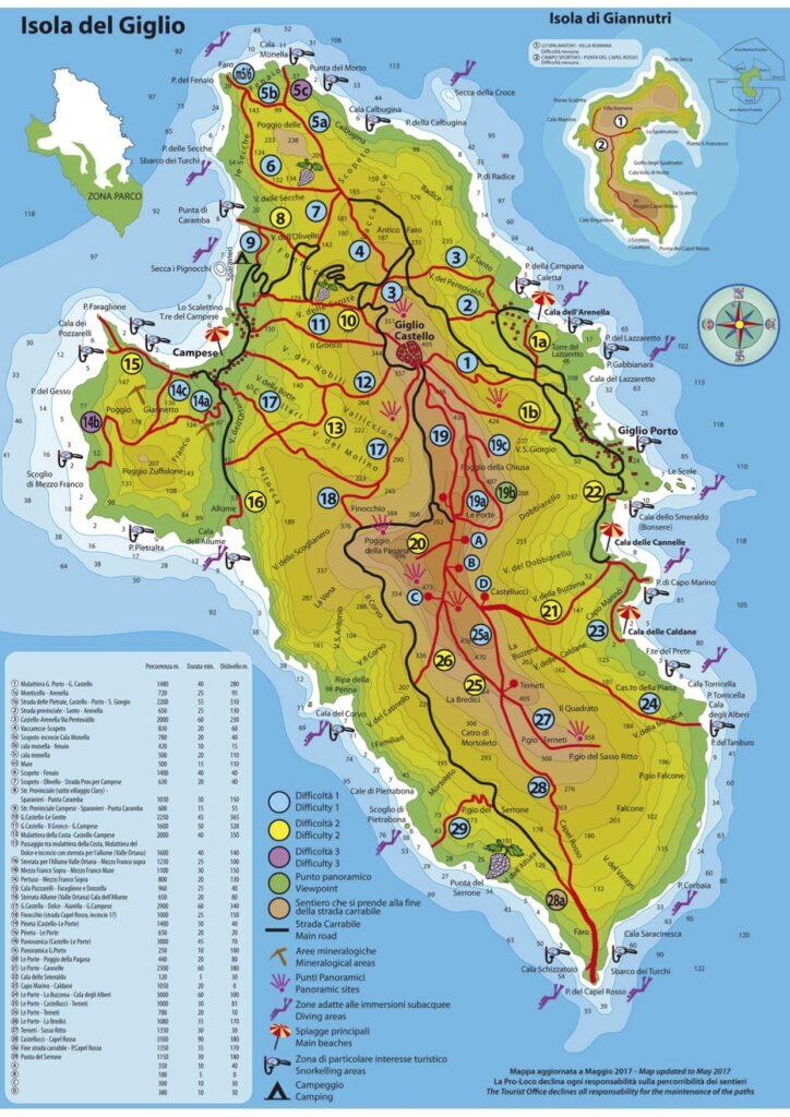 mappa-isola-del-giglio-sentieri