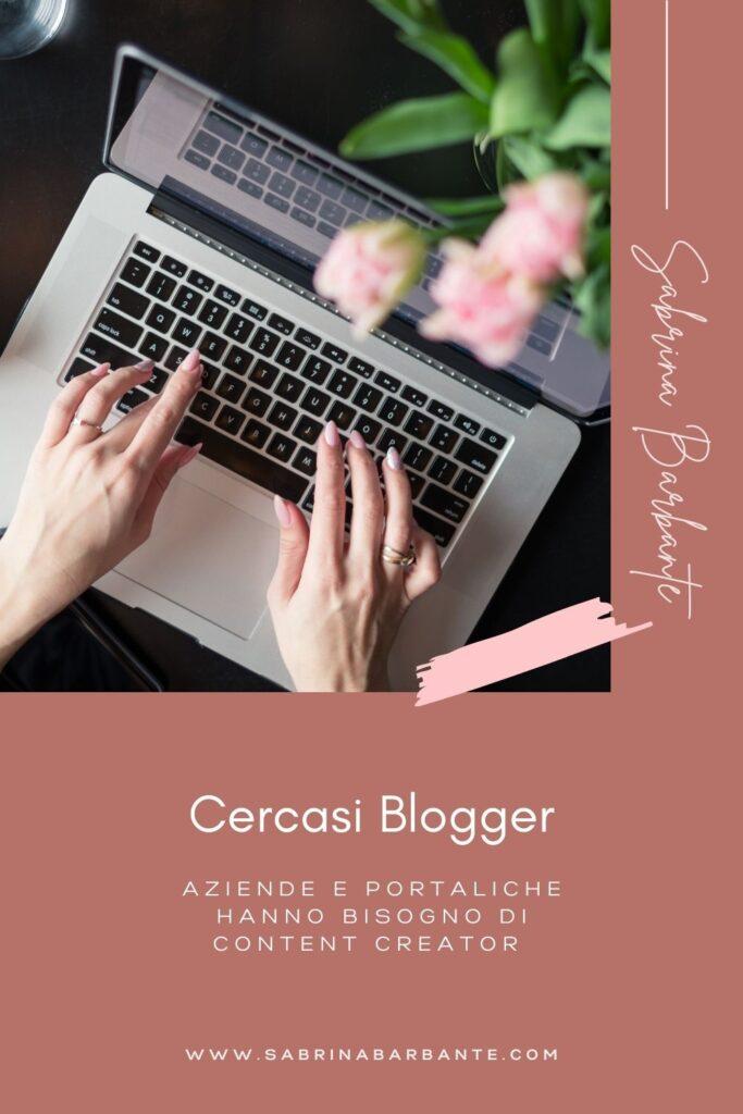 cercasi blogger - aziende che hanno bisogno di content creator - grafica pinterest